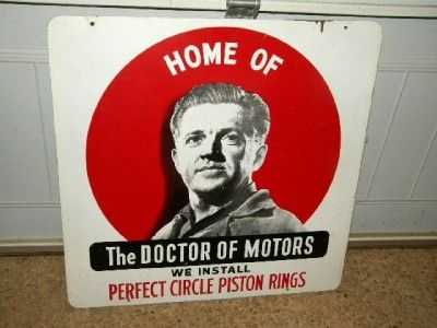 Old Perfect Circle Piston Ring Gas Oil Garage Car SIGN