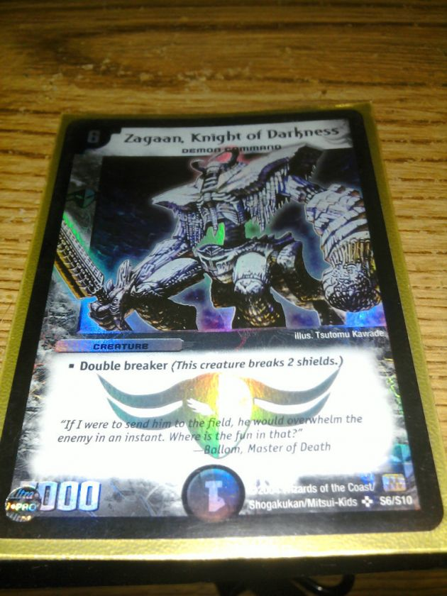 Knight of Darkness S6//S10 Promo Foil Duel Masters Zagaan