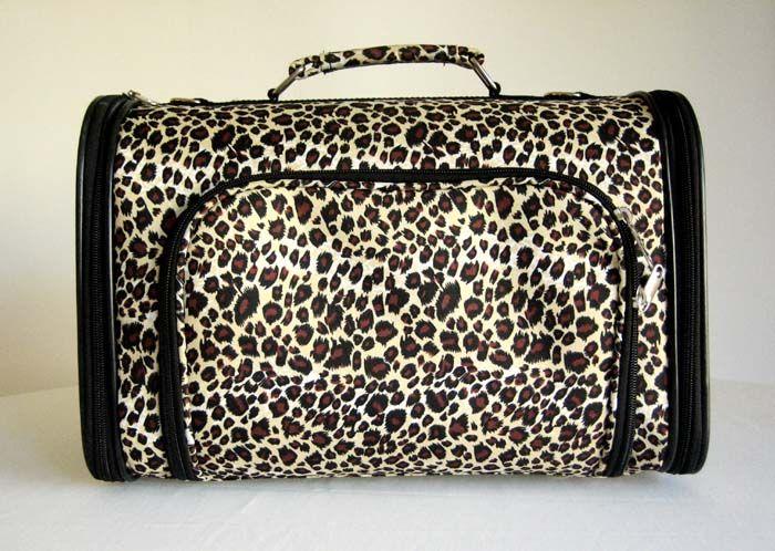 16Pet Luggage/Carrier Dog/Cat Travel Bag Purse Leopard