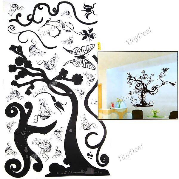 Black Tree DIY Wall Sticker Mural Decal HHI 20244