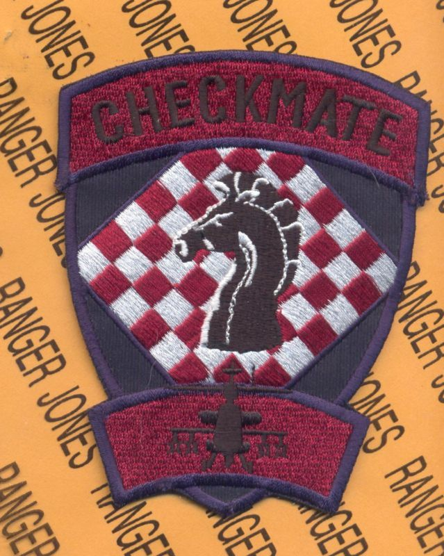 Air Cavalry Aviation CHECKMATE Apache patch B