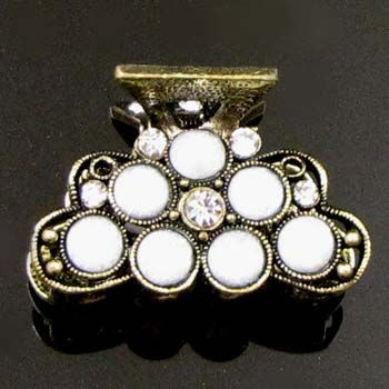 SHIPPING 1pc rhinestone crystal Antique flower hair claw clip