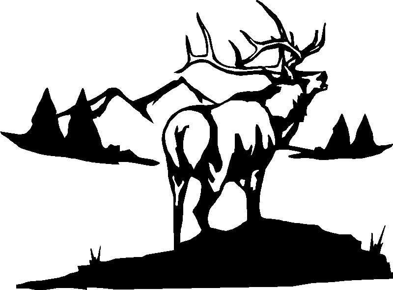 Big Elk Hunting,Camping,Sticker,Decal,Graphic