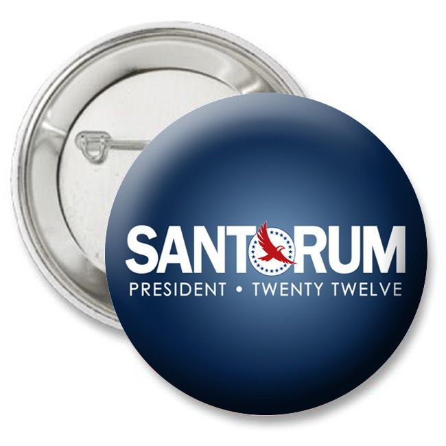 Santorum 2012 button pin Dark Blue Design   republican GOP anti obama