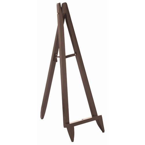 Brown/Choc Leather Full Length Floor Mirror and Easel